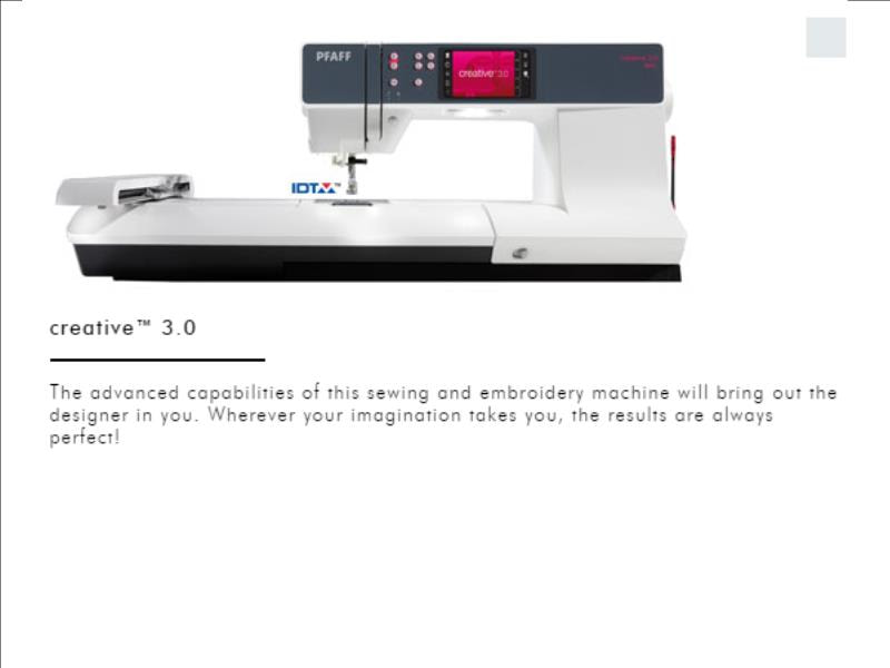 Pfaff Creative™ 44040 Enchanting Pfaff Creative 30 Sewing Machine
